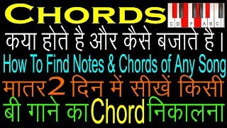 How To Find Notes & Chords Of Any Song Lesson For Beginners ...