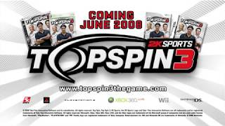 Top Spin 3 - Trailer (PlayStation 3, Xbox 360, Nintendo Wii)
