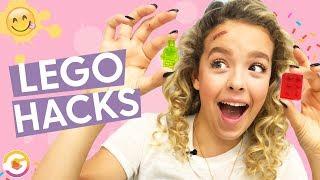 LEGO Hacks! Making Gummy LEGO & LEGO Lamp | GoldieBlox