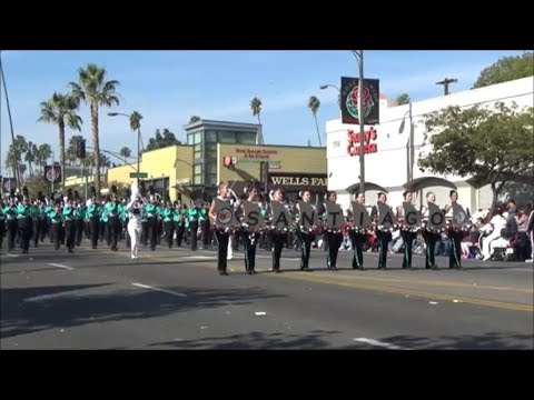 """Santiago High School """"The B.O.S.S."""" (Bands of the Santiago Sharks) - 2018 Tournament of Roses Parade"""