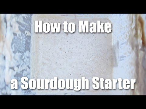 how to make sourdough bread starter video