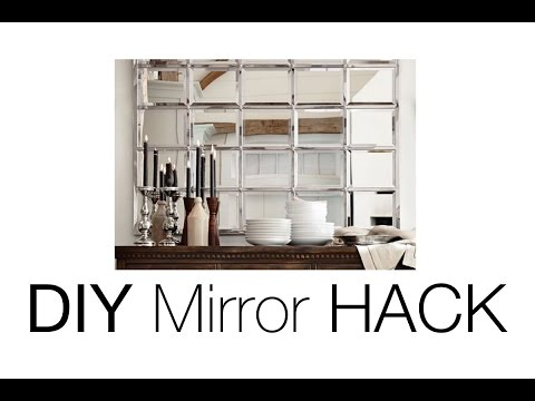 diy-beveled-mirror-|-pottery-barn-mirror-hack!