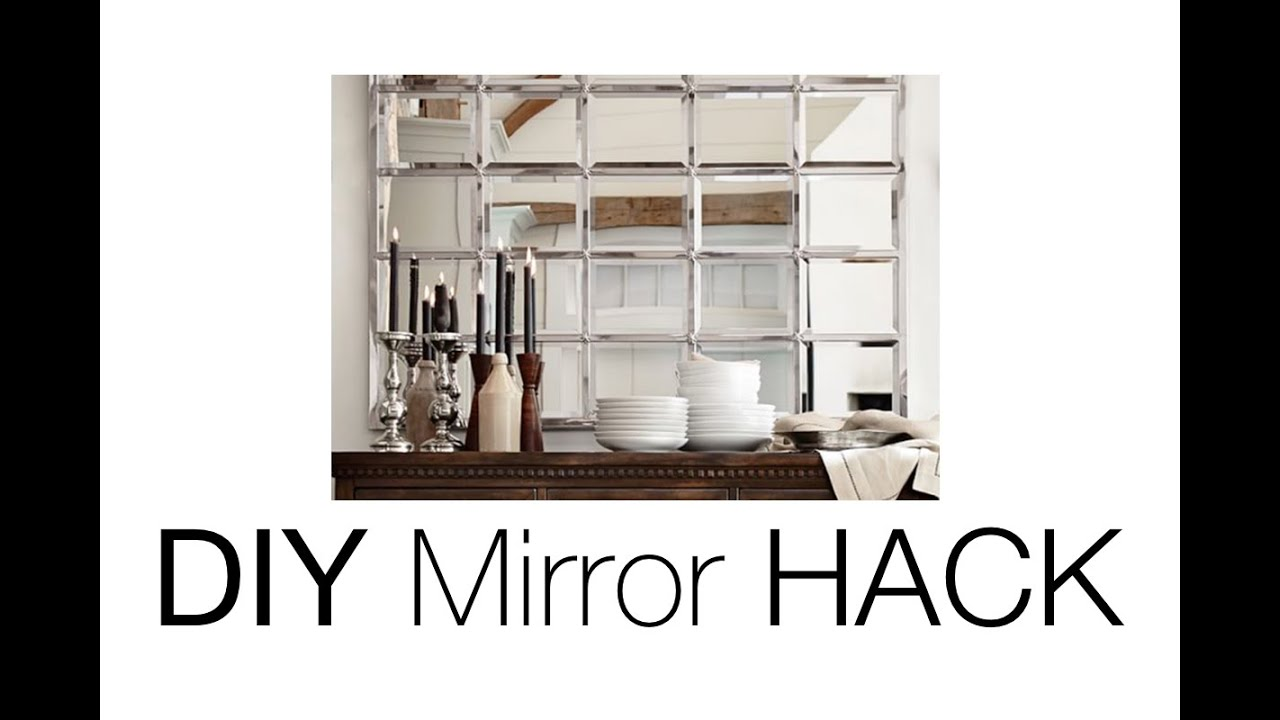 DIY Beveled Mirror Pottery Barn Mirror HACK YouTube - Beautiful diy ikea mirrors hacks to try