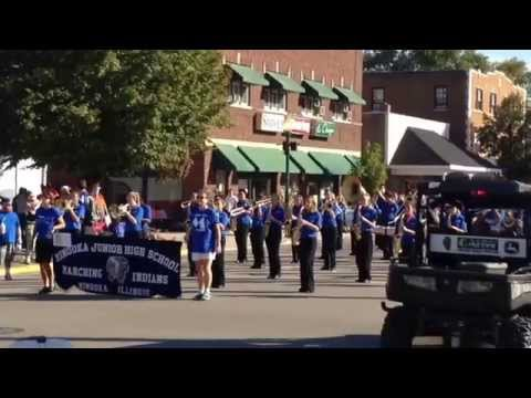 MInooka Junior High School marching band at the 2014 Grundy County Cornfest Parade