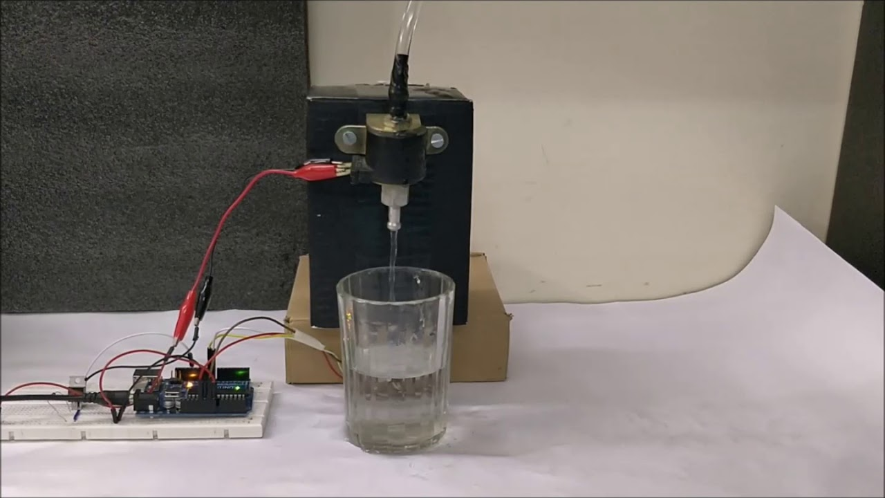 Arduino Based Automatic Water Dispenser Project Youtube