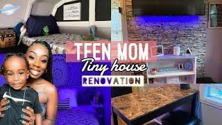 TEEN MOM: SHED TO TINY HOME RENOVATION‼️ kaiden has a room now?!