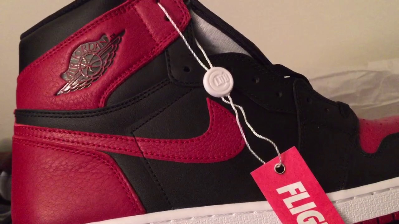 watch f8d7f 05f8f Air Jordan 1 BRED Review + Unboxing FCNY Pickup Black/Red FLIGHT CLUB NEW  YORK