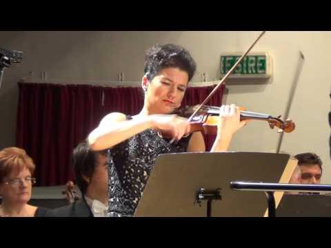 Alda Dizdari playing Elgar's Violin Concerto in Oradea, Romania in February 2016 1/3