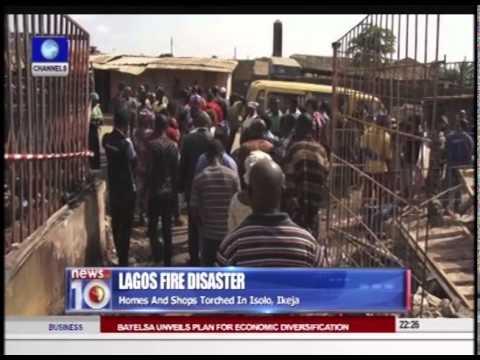 News@10: Lagos Fire Outbreak Kills 3 Children 31/07/15 Prt.2