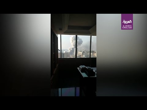Video from inside Beirut apartment shows moment of second explosion