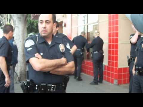 How Many Police Does It Take To Arrest One Unarmed Black Man in Skid Row