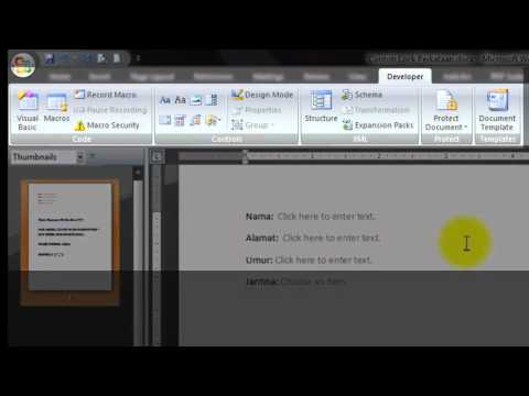 UNLOCK PROTECTED WORD DOCUMENT [MS WORD 2007]