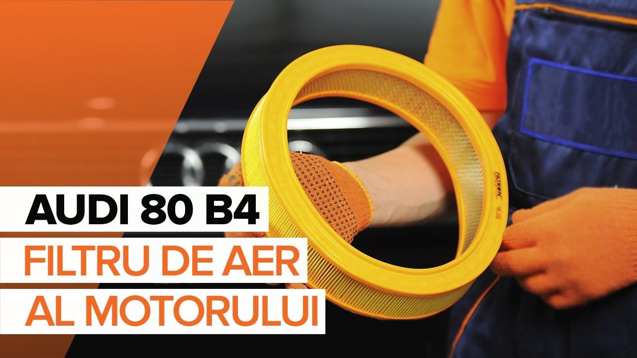 Cum se înlocuiește filtru de aer motor pe AUDI 80 B4 TUTORIAL | AUTODOC