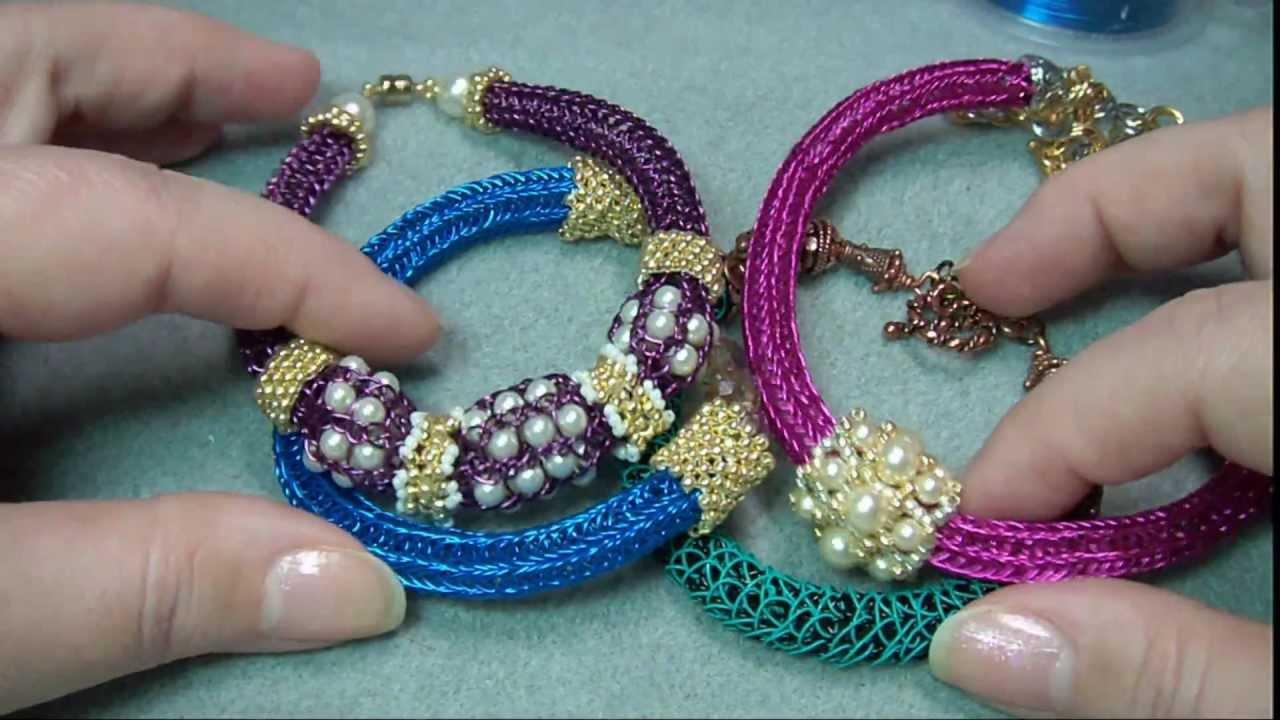 French Knitting Jewellery Tutorials : Viking knit jewelry embellishments youtube