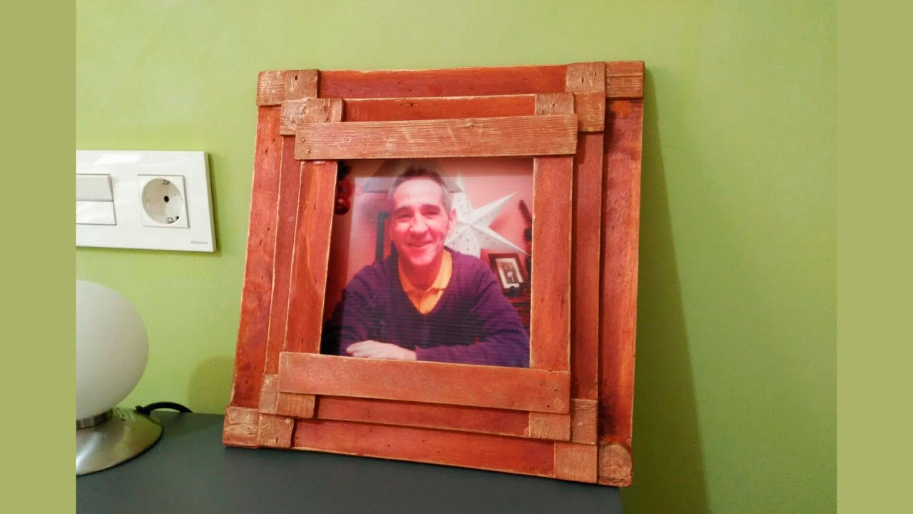 Portaretrato de madera regalo para caballero wood - Manualidades con madera ...