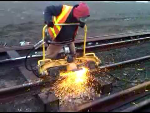 COASTRAIL INC THERMITE WELD RAIL GRIND - YouTube - thermite welding