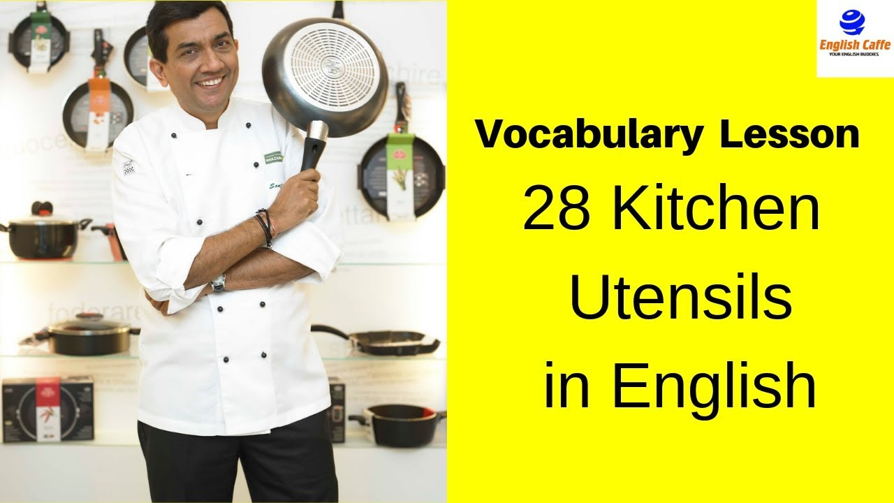 Basic English Vocabulary Lesson: Learn 28 Kitchen Utensils