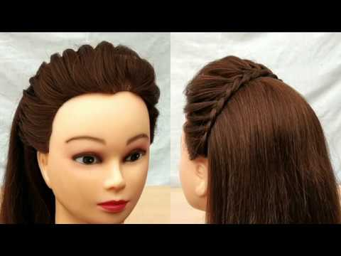 Easy Cute Front puff hairstyle with Trick:Braided puff hairstyle || Beautiful out going hairstyle thumbnail