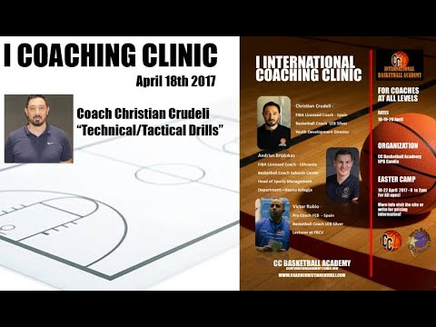 "Christian Crudeli / Coaching Clinic 2017 / ""Technical/Tactical drills - 1x0, 2x0, 3x0"""