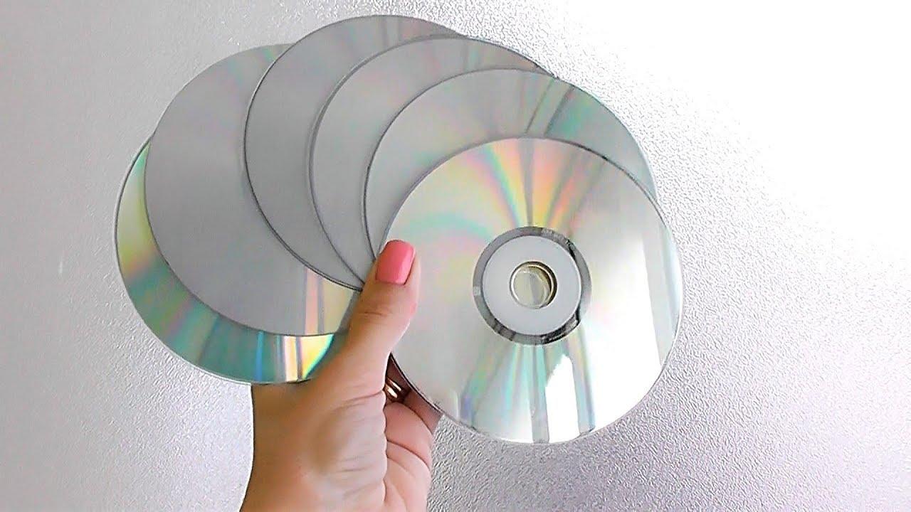 5 ИДЕЙ поделок из CD ДИСКОВ своими руками