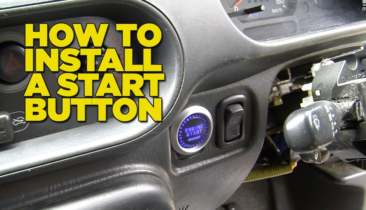 remote car starter wiring diagram 96 civic distributor how to install a start button - youtube