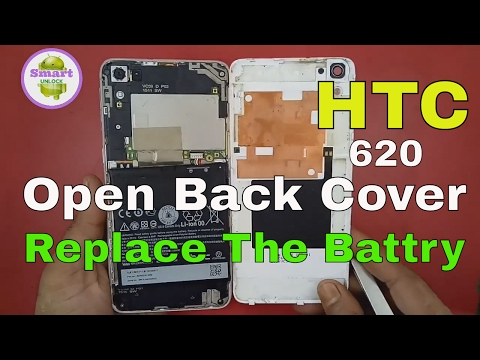 HTC Desire 626G How To Open Back Cover - Replace The Battery