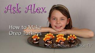 How To Make Oreo Turkeys - Happy Thanksgiving - Ask Alex