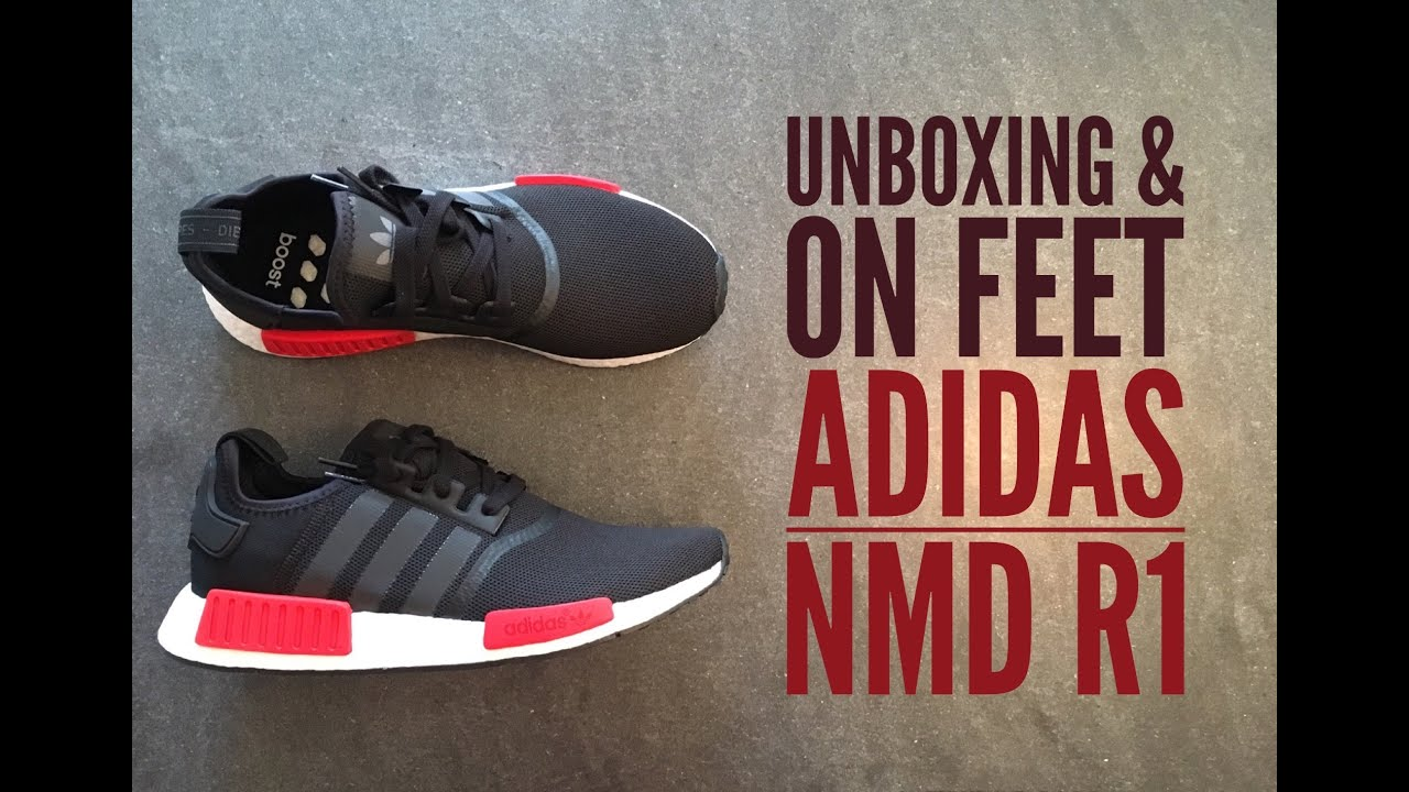competitive price 0b9ab 77d47 Adidas NMD R1 black   UNBOXING   ON FEET   fashion shoes   brandnew   2016    HD