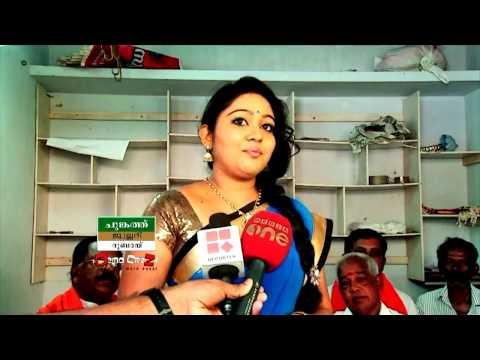 Chandana mazha  amirtha megna vincent in aruvikkara for support Bjp democrazy