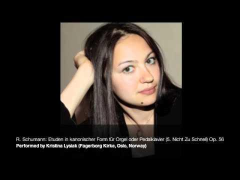 Etuden in kanonischer Form für Orgel oder Pedalklavier (5. Nicht Zu Schnell) Op. 56