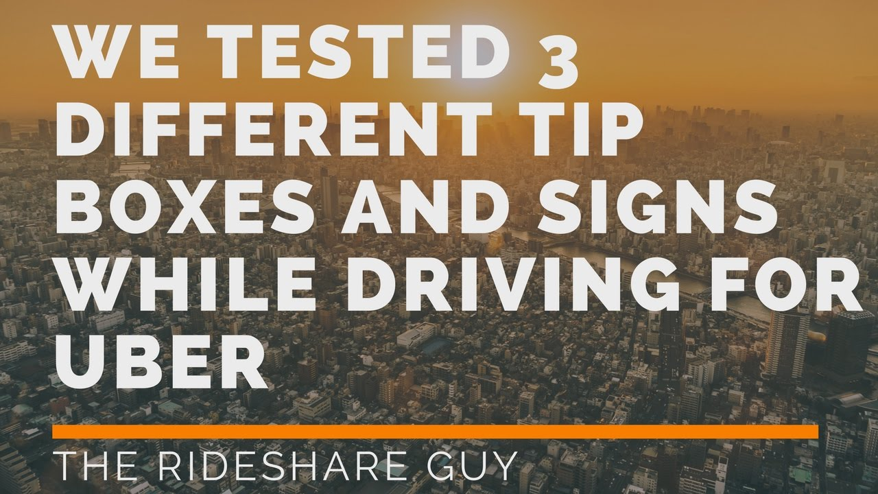We Tested 3 Diffe Tip Bo And Signs While Driving For Uber You