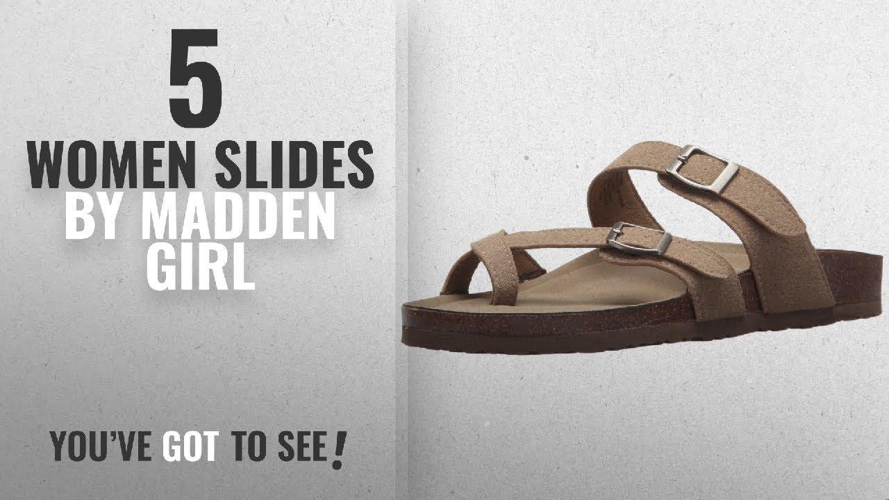 c4d0987edc8 Top 5 Madden Girl Women Slides  2018   Madden Girl Women s Bryceee Slide  Sandal