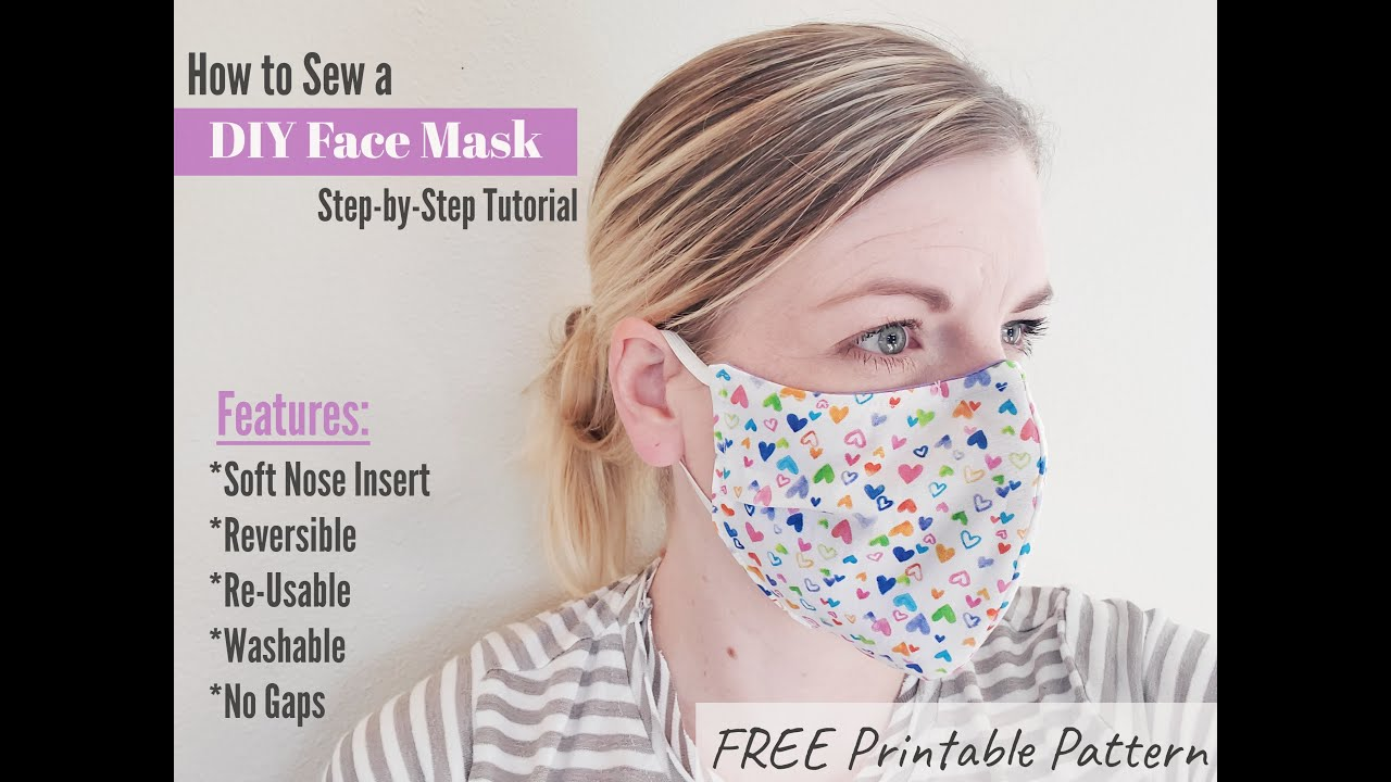 *SEE UPDATED VIDEO* How to sew a NO GAP - DIY Medical Face mask step-by-step Tutorial Free Pattern