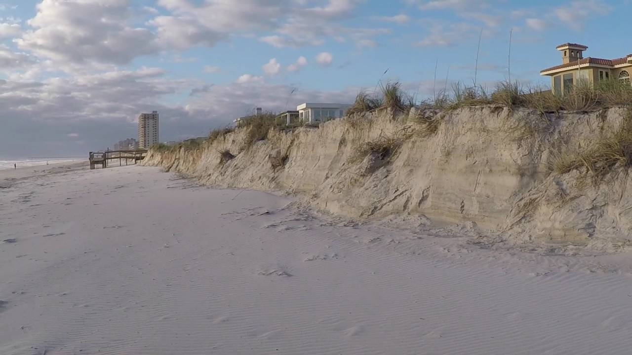 Beach Erosion In Florida From Matthew