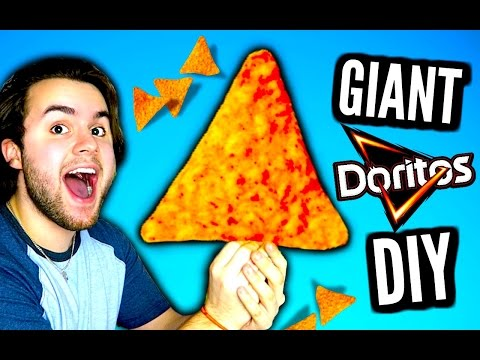 DIY Giant Doritos | How To Make HUGE Edible Dorito | Biggest Chips In The World!