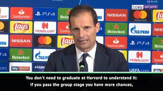 Allegri: Juventus not favourites, but are contenders for Champions League