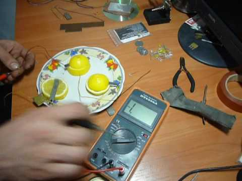 Вопрос: Как сделать батарейку из лимона?