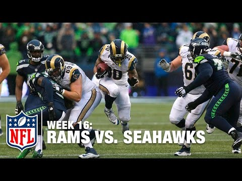 Todd Gurley Hurdles Earl Thomas & then Fumbles the Ball! | Rams vs. Seahawks | NFL