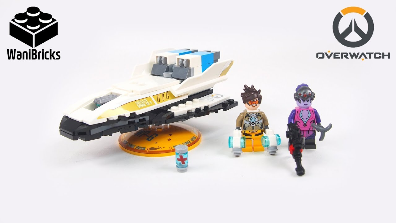 ow001 NEW LEGO Overwatch Tracer Minifigure from 75970 Tracer vs Widowmaker
