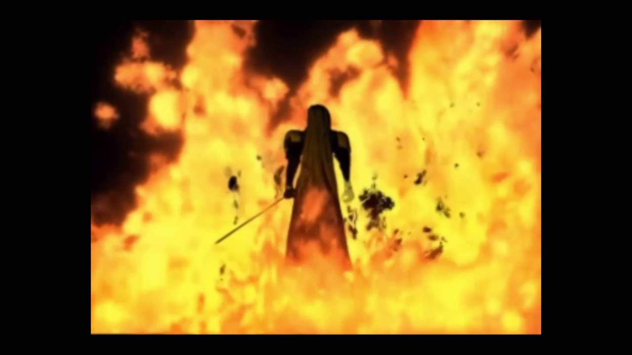 Final Fantasy Vii Sephiroth Fire On Nibelheim Cut Scene