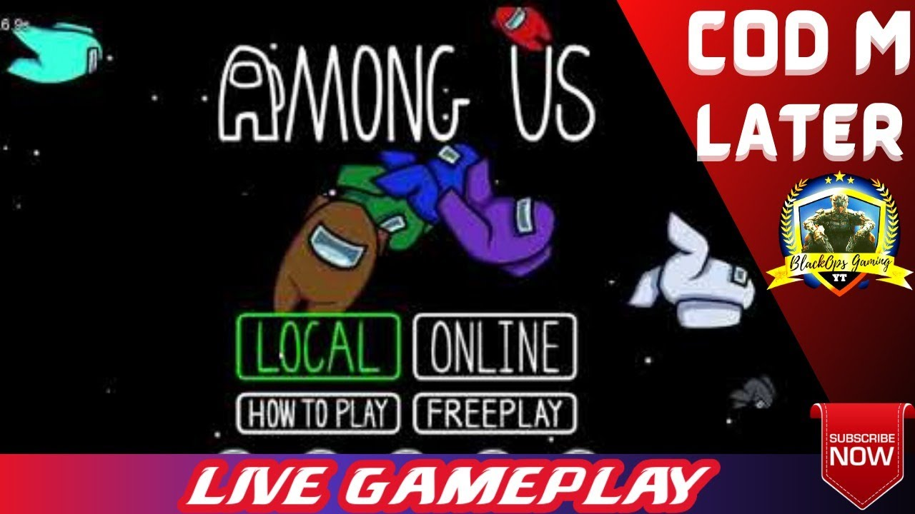 Aao khele AmongUS Later! Donation on Screen ! BlackOpsGamingYT
