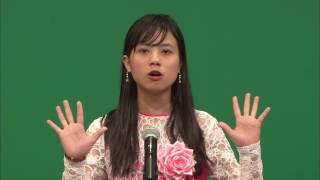 第57回 外国人による日本語弁論大会 「発展途上国の留学生から先進国の若者へのメッセージ」 ニン ウー チョー