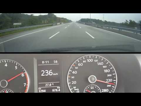 jetta 1.4 tsi highway performance, acceleration and top speed 236km/h (at 3 02)