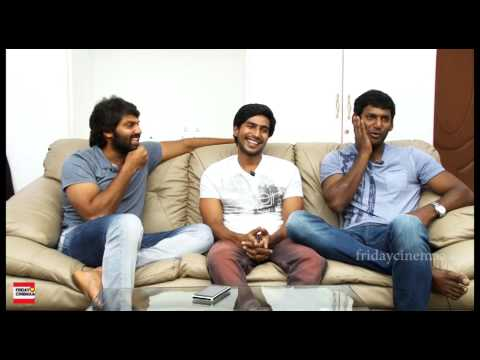Vishal Arya Vishnu Vishal & interviews @ Jeeva Movie Experience