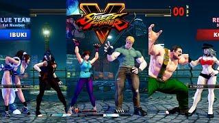Street Fighter V Ibuki/Juri/Sakura vs Cody/Zangief/Kolin PC Mod