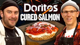 Brad Leone and Josh Make Doritos Cured Salmon | Mythical Kitchen