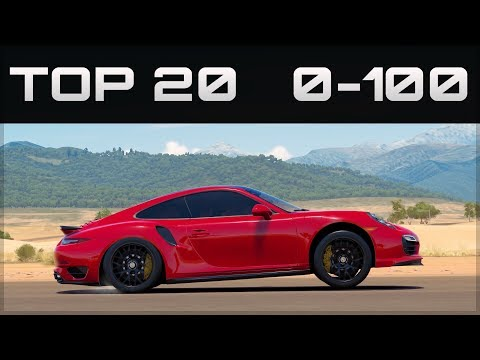 TOP 20 FASTEST 0-100 CARS  | Forza Horizon 3 | Crazy Accelerations!
