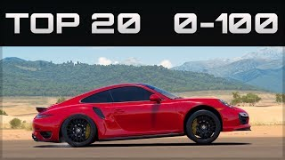 TOP 20 FASTEST 0-100 CARS    Forza Horizon 3   Crazy Accelerations!