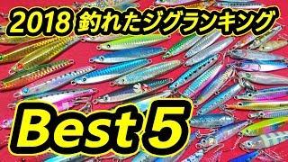 【発表】釣れたジグ Best5『ショアジギング 2018』ヒット数で順位決定!