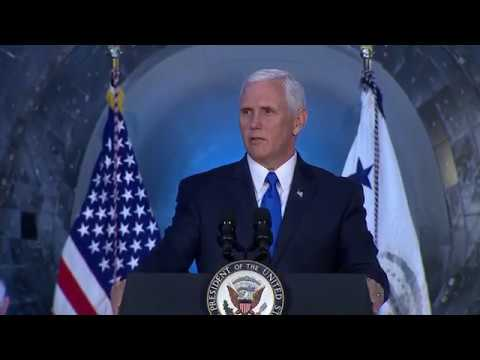 Vice President Pence Calls for Human Missions to Moon, Mars at National Space Council